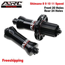 ARC Road Bike Hub Front 20H Rear 24H 4 Pawls Straight Pull Road Hub V Brake Aluminum