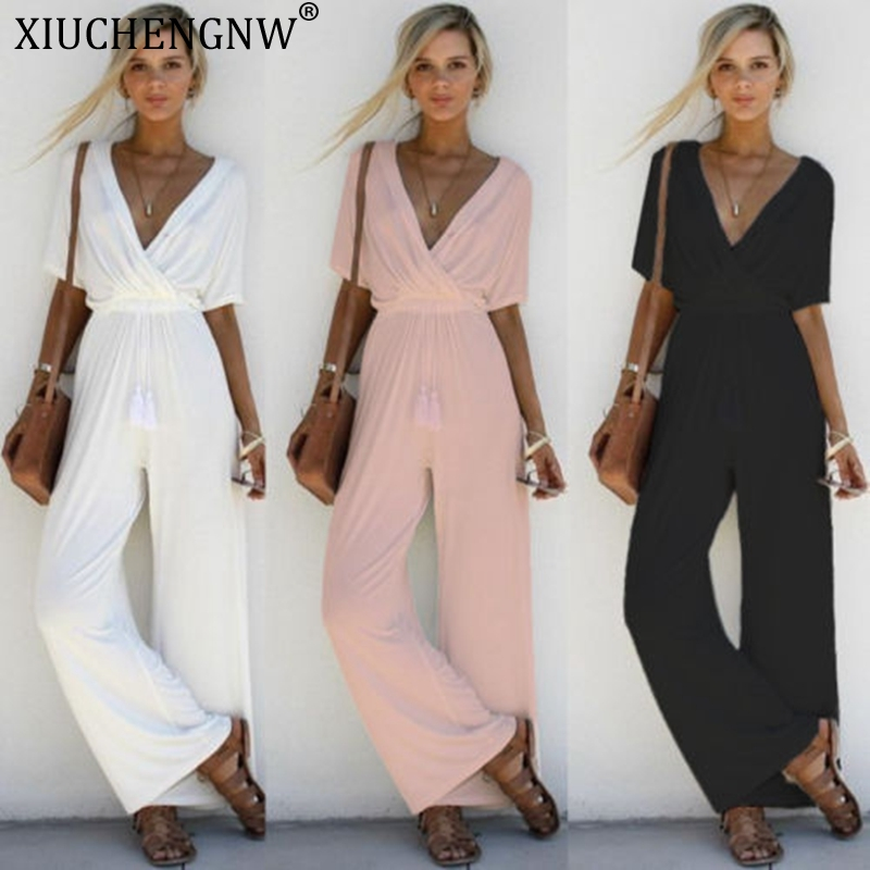 Drees Women Bodysuit Girls Summer Sleeveless Strip Jumpsuit Print Strappy Holiday Long Playsuits Trouser Fashion 2019 Dropship