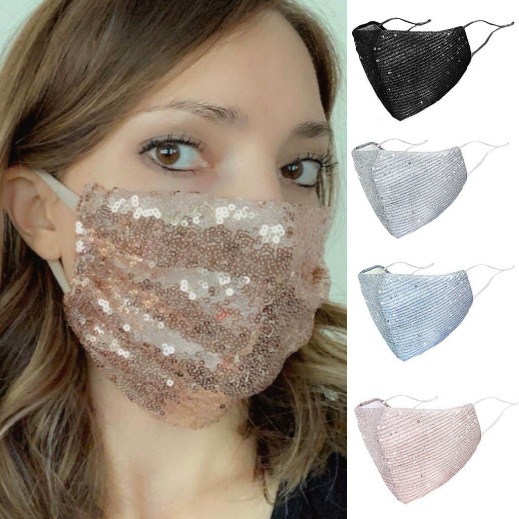 Outdoor Mouth Mask Anti PM2.5 Haze Washable Reuse Face Mask Sequins Protection Mask Mascarilla Breathable Windproof Masks New