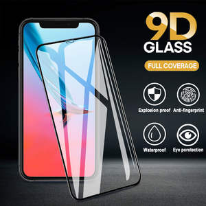 9D Tempered Glass Ultra thin For iPhone 6 6s 6 plus7 7Plus 8 8Plus X XS XR XsMax 11pro Full Cover anti-scratch Screen Protector