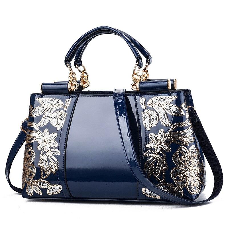 YK-Leik Embroidery Women Bag Leather Purses and Handbags Luxury Shoulder Bags crossbody bags Female Bag for Women 2020