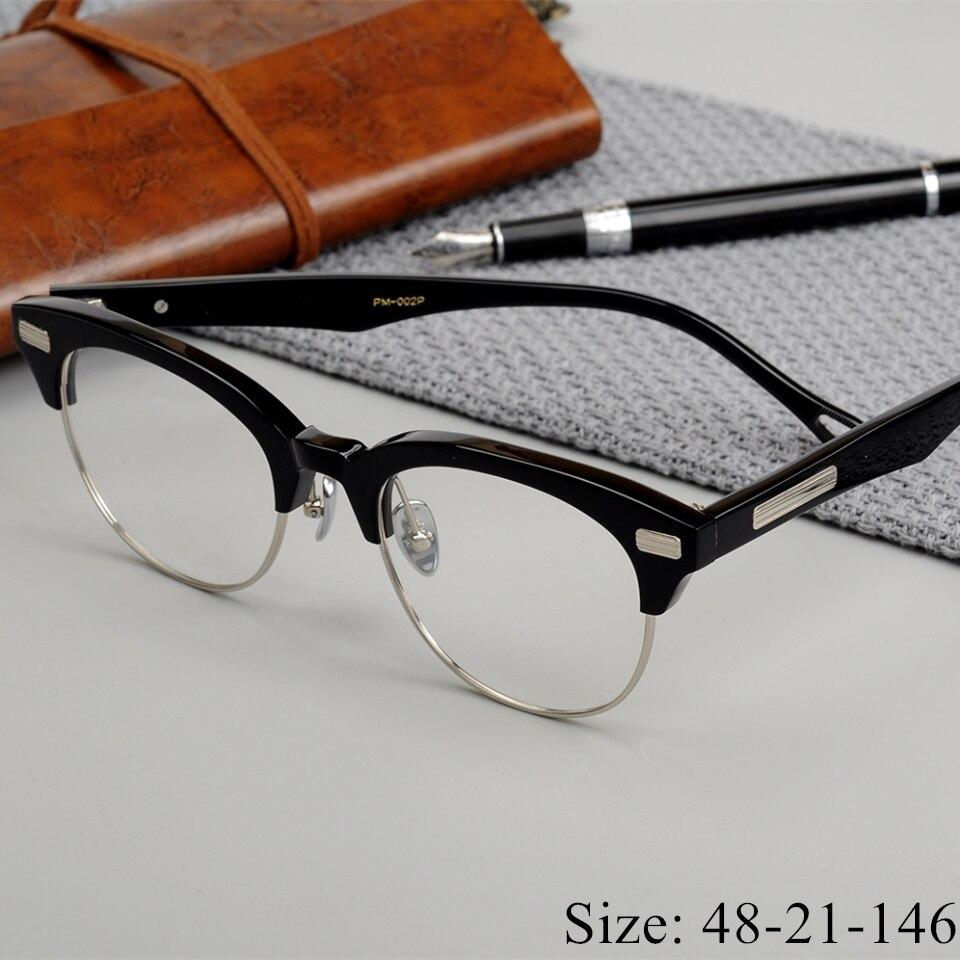 Limited edition Vintage acetat brillen rahmen John M Master favor retro halfrim brillen frauen männer original titanium literarischen-in Brillenrahmen aus Kleidungaccessoires bei AliExpress - 11.11_Doppel-11Tag der Singles 1