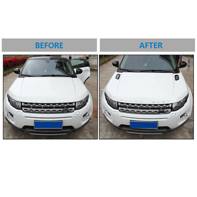 A Pair Car Exterior Hood Air Vent Outlet Wing Cover Trim for Land Rover Range Rover Evoque 2012-2018 Car Styling Accessories 4
