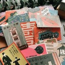 16 unids/set Retro Vintage japonés Ukiyo Posters pegatina DIY artesanía álbum Scrapbooking basura diario planificador decoración pegatinas