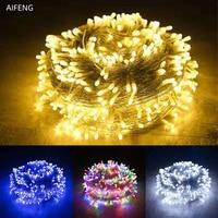 Luces de Navidad de 5M, 10M, 20M, 30M, 50M, 100M, cadena de luces Led de hadas, 8 modos, luces de Navidad para boda, fiesta, vacaciones
