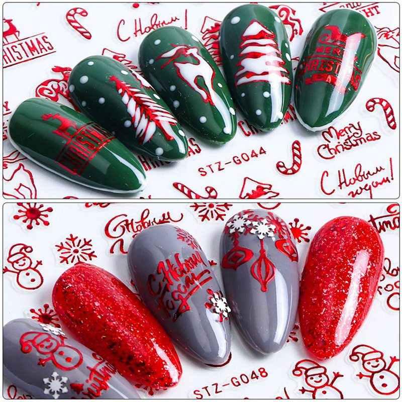 9 Designs In 1 Set Winter Weihnachten Stil Schneeflocke Voll Wraps Nail art Wasser Transfer Aufkleber Maniküre Decals DIY