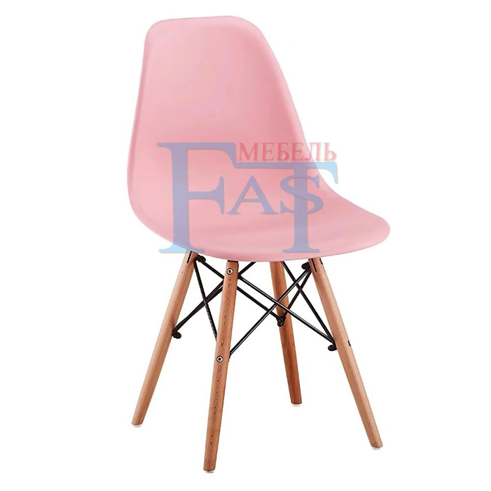 4 Pcs Dining Chair Set On Beech Legs With Art Design Hard PP Plastic Seat Kitchen Chair Home Chair Meeting Chair