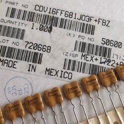 10 sztuk meksyk CDM srebrny Mica 1000V680PF 5% żółty mika kondensator 1KV 680P 680pF/1000V CDV16FF681J03F 1000V680P p6mm w Układy scalone wzmacniaczy operacyjnych od Elektronika użytkowa na