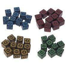 10 шт. D6 многогранные игральные кости с квадратной окантовкой 6 сторонних кубиков бусин настольная игра для бара клуба Вечерние