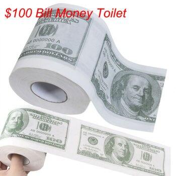 1 шт., забавные вечерние рулоны для денег на сто долларов, туалетная бумага Gg в подарок, Юмористическая шутка