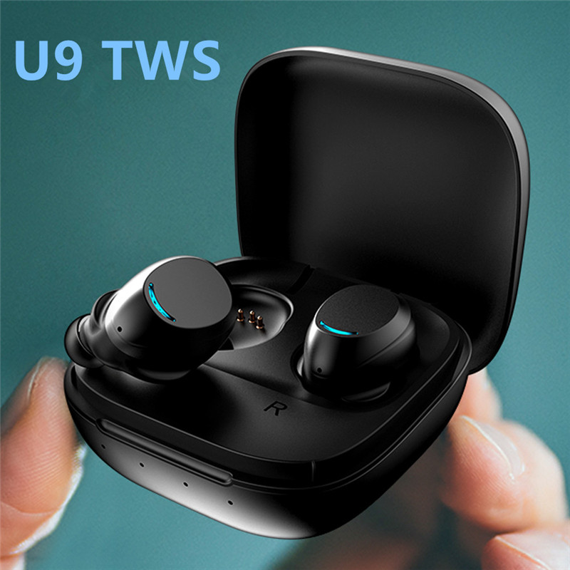 Nouveau U9 sans fil casque Bluetooth 5.0 TWS casque HIFI Mini in-ear sport en cours d'exécution écouteurs Support iOS/Android téléphones HD appel
