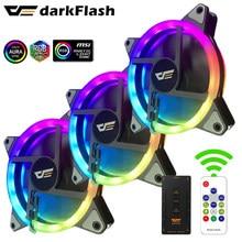 Darkflash – radiateur DR12 PRO RGB synchronisé aura, réglable, 120mm, Double halo argb, ventilateurs silencieux de 12cm