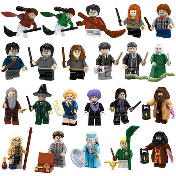 22 PCS LEGO Building Blocks Harry Potter Magical Animal Voldemort Graves Green Team LEGO Puzzle Building Block Toys image