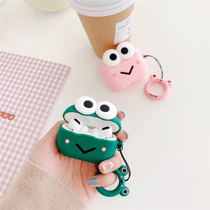Cute Love Frog Fudna For AirPods Pro Case Cartoon Couples Silicon Headphone Cover For AirPods 3 Air Pods Pro 3 Earphone Case