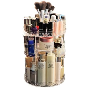 360° Rotating Cosmetic Organizer Storage Box