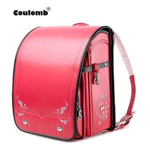 Coulomb School-Bag Bookbags Orthopedic-Backpack Randoseru-Bags Girls Children Japan PU
