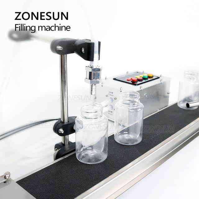 ZONESUN Machine de remplissage automatique liquide bouteille de parfum eau huile jus simple tête de remplissage avec bande transporteuse