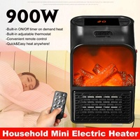 Mini Electric Heater 900W Portable Electric Space Room Heater Air Heating Space Winter Warmer Machine With Remote Control Hot|Electric Heaters| |  -