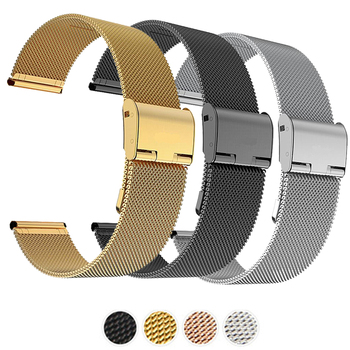 Milanese Watchband 12mm 14mm 16mm 18mm 20mm 22mm 24mm Universal Stainless Steel Metal Watch Band Strap Bracelet Black Rose Gold stainless steel watch band solid metal watch bracelet strap men women watchband 14mm 16mm 18mm 20mm 22mm 24mm butterfly clasp