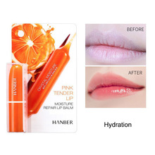 Blood Orange Moisturizing Lip Balm Brighten Lip Color Smooth Lip Lines Lipstick Anti-drying Nourishing Lip Cream Lip Care Makeup недорого