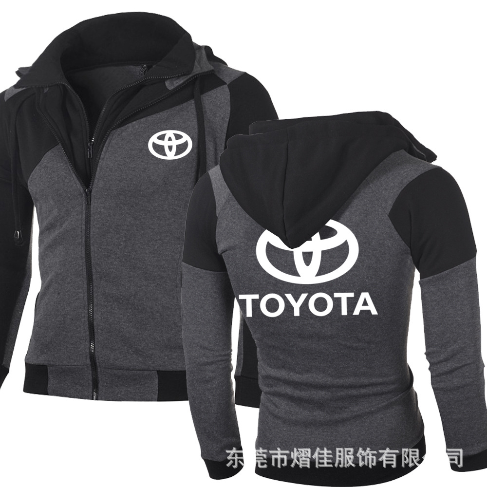 For Toyota Thicken Hoodie Jacket Sweater Warm Fleece Zip Coat Team off road F//S