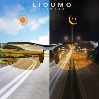 LIOUMO 2020 Day Night Photochromic Polarized Men Sunglasses for Drivers Women Safety Driving Goggles Sun Glasses zonnebril heren lioumo top photochromic sunglasses men women polarized chameleon glasses driving goggles anti glare sun glasses zonnebril heren