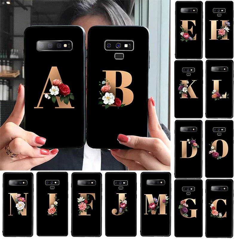 Letter Alphabet Flowers Print Floral Classic Phone Accessories Case For GALAXY s10 s6 edge plus s7 edge s8 plus s9 plus