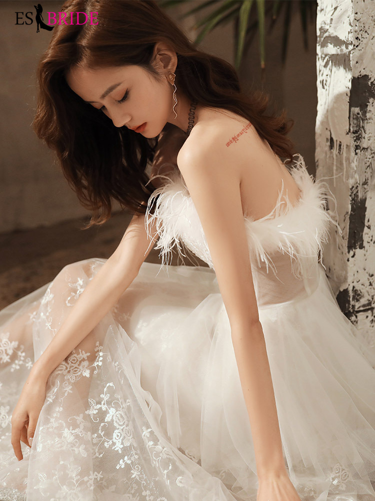 White Evening Dress Female