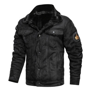 Image 5 - 2020 新秋と冬ラペル大男性のジャケットカジュアルファッションオートバイ緩い革ジャケット