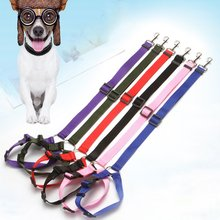 Dog Cat Safety Seat Belt Strap Car Headrest Restraint Adjustable Nylon Fabric Dog Restraints Vehicle Seatbelt heavy duty safty bungee seat belt adjustable nylon rope car adult seatbelt leash padded belts jumping protection outdoor tool page 9