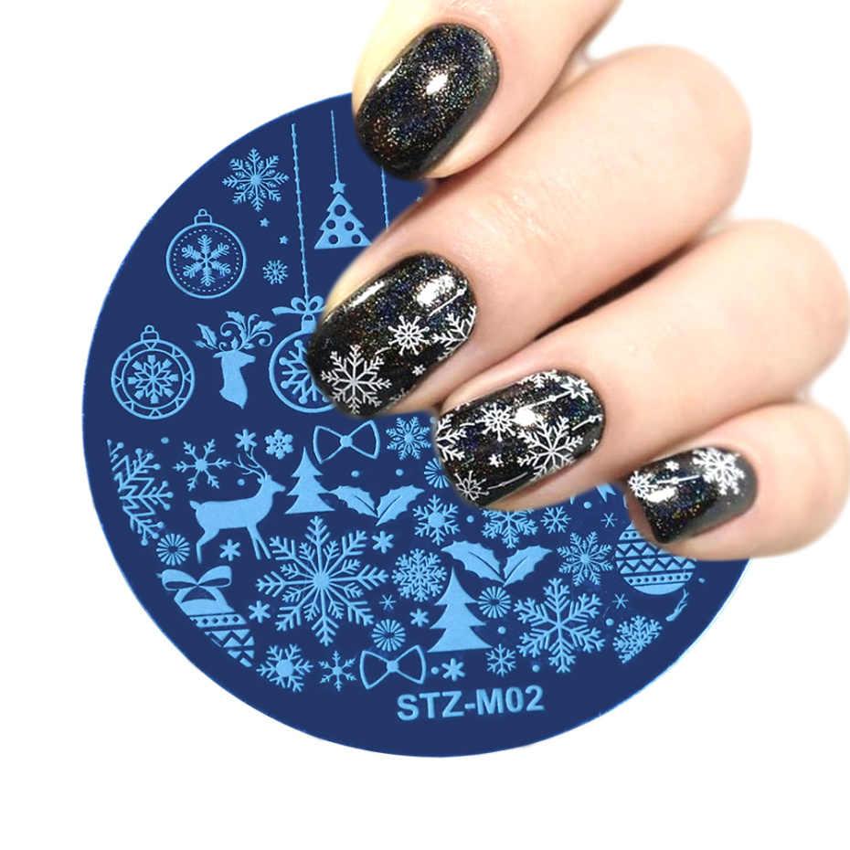 Штамповочные пластины для дизайна ногтей, трафареты для Хэллоуина, Рождества, снежинки, аксессуары для маникюра, инструмент LASTZM/XYS/XYE, 1 шт.