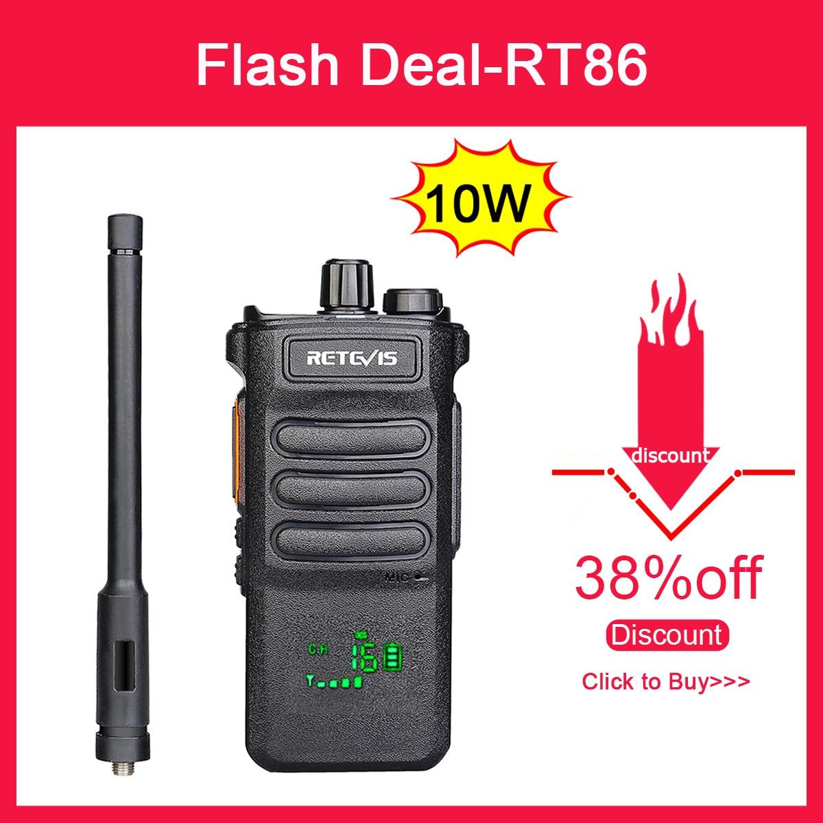 10W Retevis Walkie Talkie Long Range RT86 Walkie-talkies 1 2 pcs Portable Radio For Hunting Powerful walkie-talkie Two-way radio