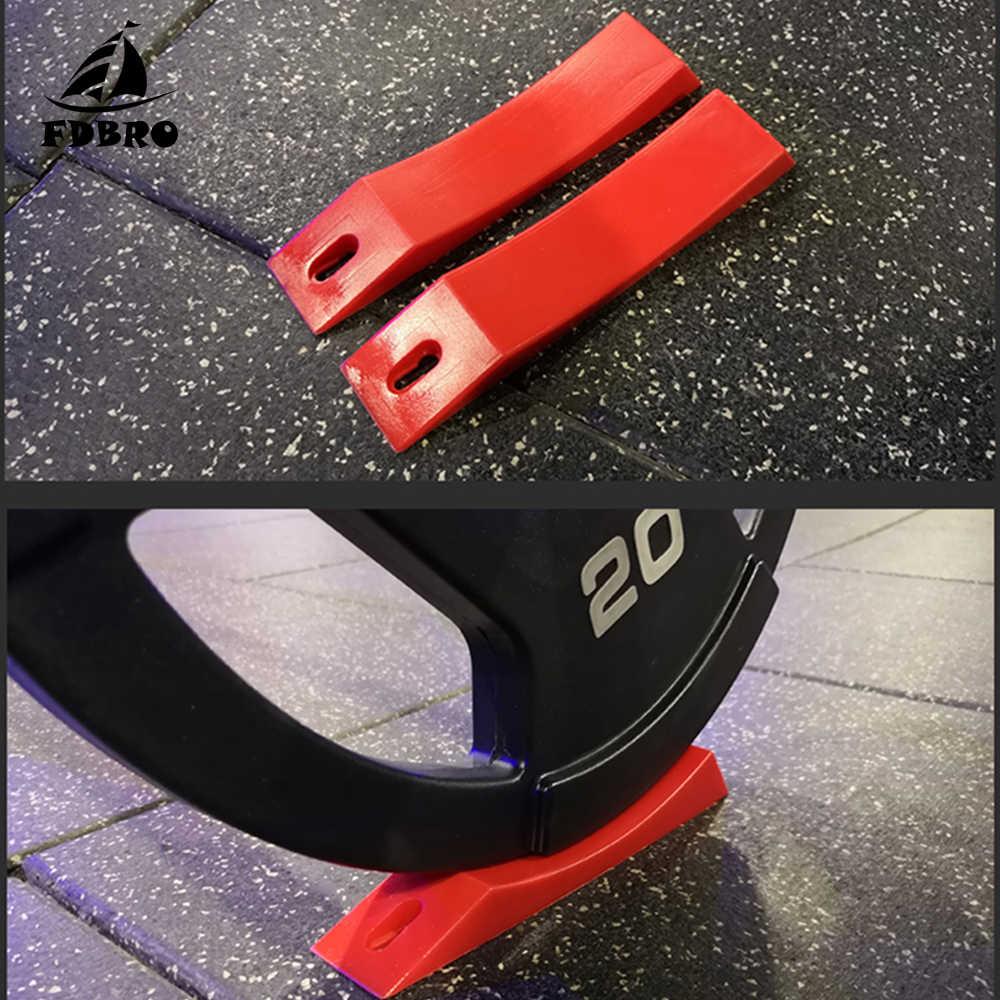 FDBRO 1 ชิ้น Deadlift Barbell แจ็คทางเลือก WEDGE UNLOAD Barbell และแผ่นน้ำหนักยก Fitness GYM อุปกรณ์