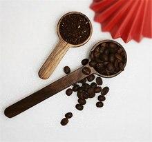 Высококачественная натуральная черная кофейная ложка из грецкого