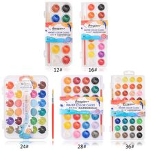 28 Color Fundamental Watercolor Pan Set with Paint Brush for Beginners and Professionals