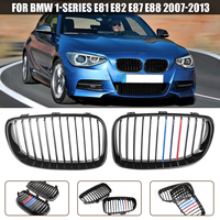 1 Pair Front Kidney Grilles Gloss Black M Color For BMW E81 E82 E87 E88 118i 125i 135i 130i 120i 128i 2005 2015 Racing Grilles|Racing Grills| |  -