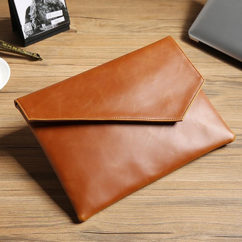 Leather Upgraded Korean Handbag Mens Business Leisure Fashion Envelope Pack File