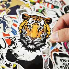 60pcs Mixed Cartoon Toy Stickers for Car Styling Bike Motorcycle Phone Laptop Travel Luggage Cool Funny Sticker Bomb JDM Decals 300 pcs mix funny stickers for laptop skateboard luggage car styling bike jdm doodle decals home decor cool waterproof sticker