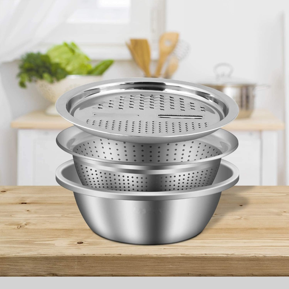 Multifunctional Stainless Steel Basin Grater