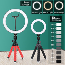 Tripod Ring-Lamp Smartphone-Camera Selfie-Stick Mobile-Phone-Holder-Accessories Photography