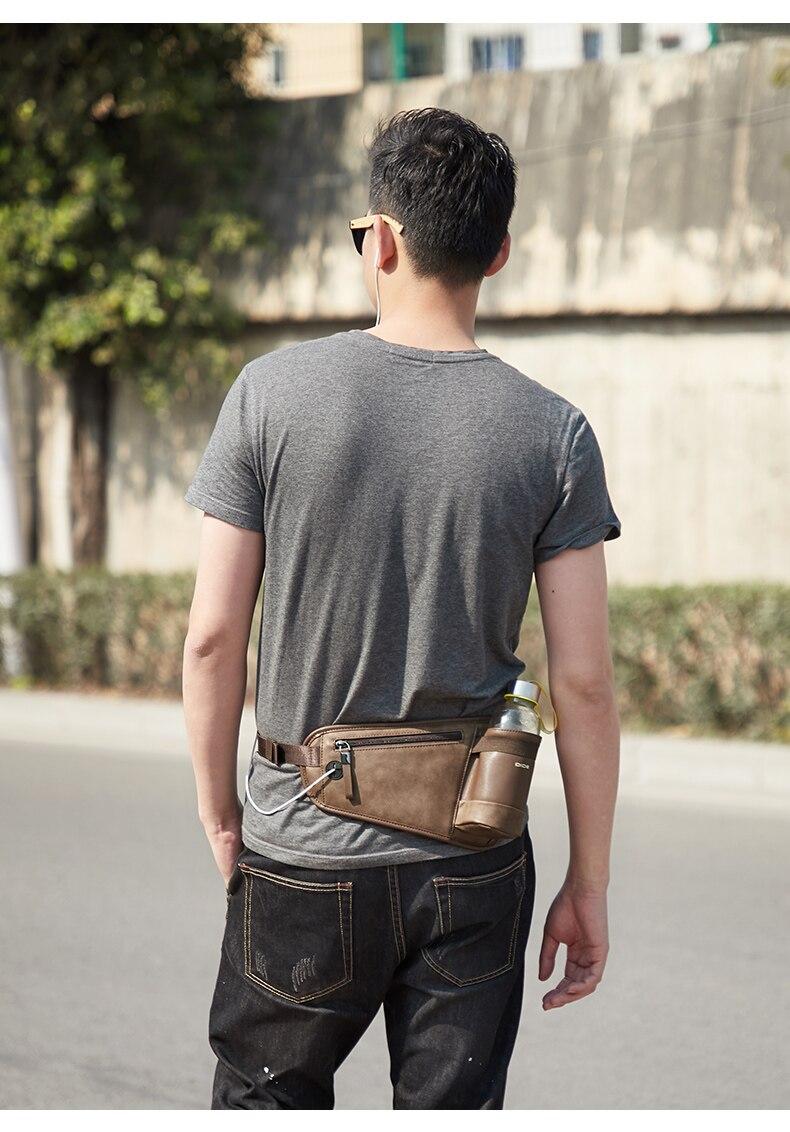 Dide men cintura saco pacote casual funcional