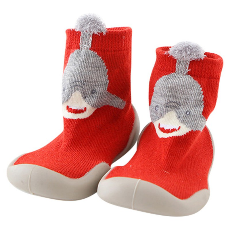 Anti Slip Rubber Sole Baby Shoes Toddler First Walker Baby Girl Kids Soft Rubber Sole Baby Shoe Knit Sock Shoes 0-4T