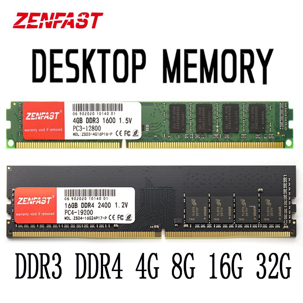 ZENFAST DDR3 DDR4 4gb 8GB 16GB 32GB Memoria Ram 1333 1600 2133 2400 2666MHz Memory Desktop Dimm For Computer