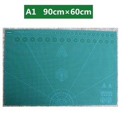 Tapete de corte de placa autocurativo de doble cara A1 90 × 60cm, estera de retales, herramienta de escultura Manual de artista DIY, suministros para el hogar, tabla de tallado