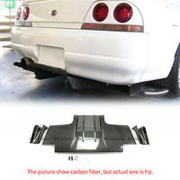 TS Style FRP Fiber Unpainted For Nissan R33 Skyline GTR Rear Diffuser w/ Metal Fitting Car Exterior Body Accessories Kits(3pcs)