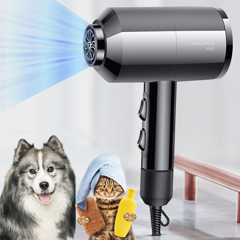 Fast Dry Anion Hair Dryer Pet Blower Electric Pet Grooming Dryer Dual-Layer Anti-heat Innovative Design Household Hair Dryer