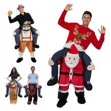 Носите Санта Клауса мишка тедди катайтесь на мне Рождественский