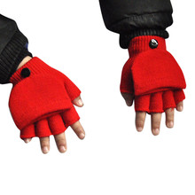 Guantes Warmer Fingerless-Gloves Mittens Outdoor Sports Winter Fashion Kid Casual Sagace