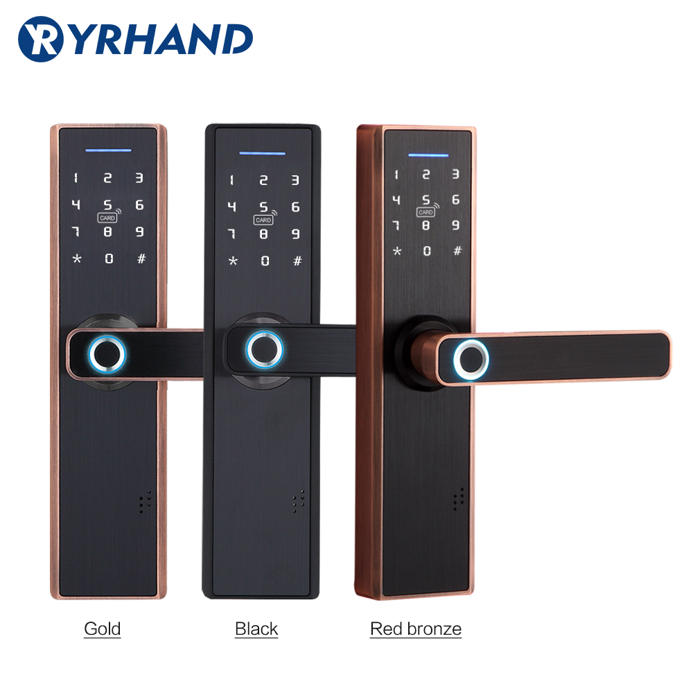 Tuya Smart Door Lock,Fingerprint Lock,Security Home Keyless Lock, Wifi Password RFID Card Lock Wireless App Phone Remote Control