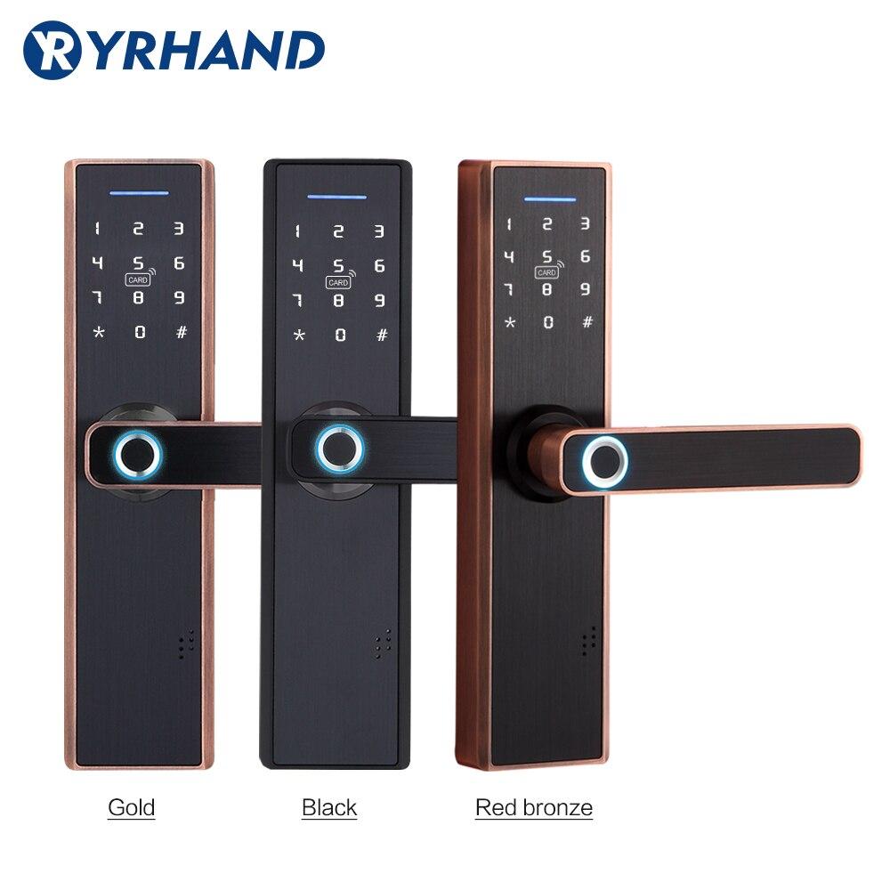 Tuya Smart Door Lock,Fingerprint Lock,Security Home Keyless Lock, Wifi Password RFID Card Lock Wireless App Phone Remote Control